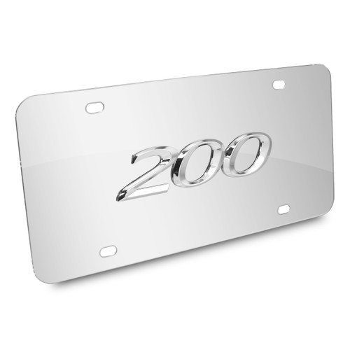 Chrysler 200 3d Logo Chrome Stainless Steel License Plate by iPick Image, Made in USA
