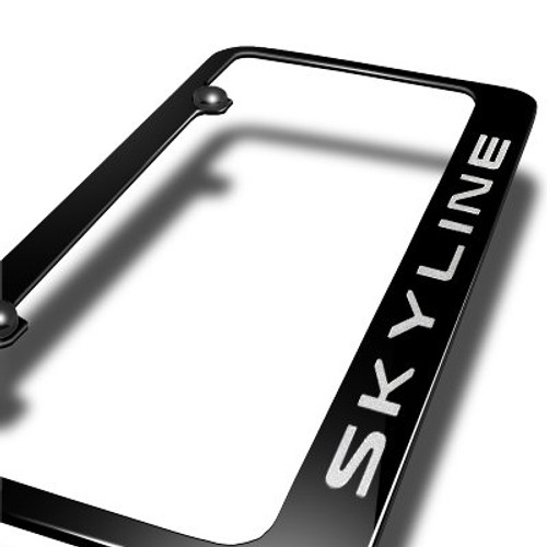 Infiniti G35 G37 Skyline Black Metal License Plate Frame