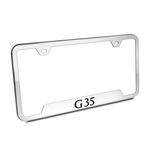Infiniti G35 Polished Steel License Plate Frame
