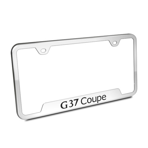 Infiniti G37 Coupe Polished License Plate Frame