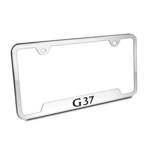 Infiniti G37 Polished License Plate Frame