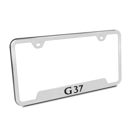 Infiniti G37 Brushed Steel License Plate Frame