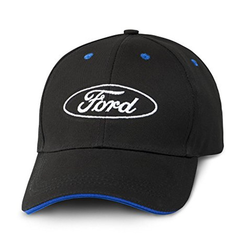 de3bf000bd6 Ford Oval Logo Blue Bill Insert Black Baseball Cap - Car Beyond Store