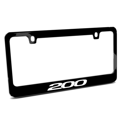 Chrysler 200 Black Metal License Plate Frame Made by iPick Image in The USA