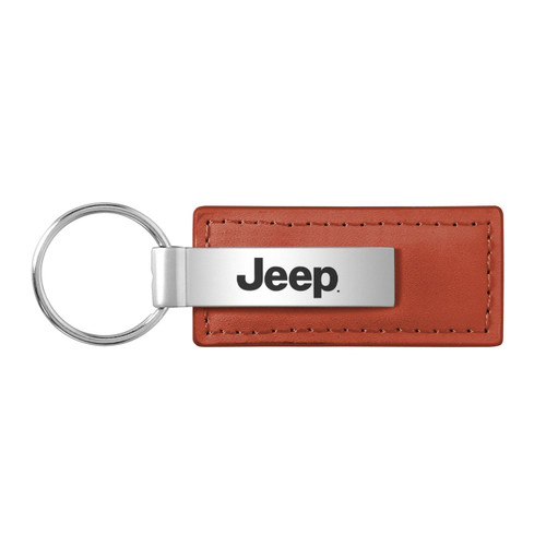 Jeep Brown Leather Key Chain