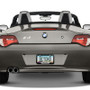 BMW Roadster Black Stainless Steel License Plate Frame