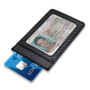 Honda Blue Logo Black Carbon Fiber RFID Card Holder Wallet
