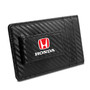 Honda Red Logo Black Carbon Fiber RFID Card Holder Wallet