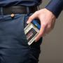 HEMI 392 HEMI Powered Black Carbon Fiber RFID Card Holder Wallet