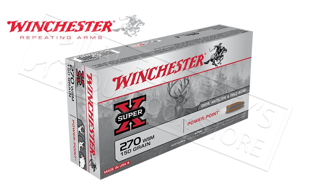 Winchester 270 WSM Super X, Power Point 150 Grain Box of 20 #X270WSM