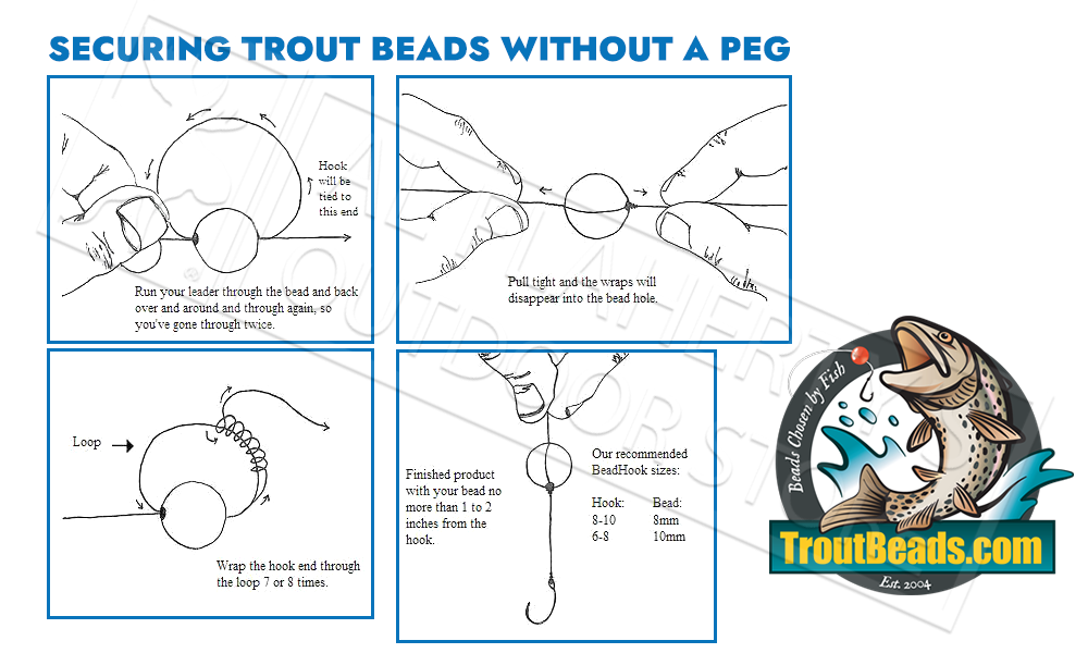 TroutBeads.com Trout Beads BloodDotEggs, 10mm Packs of 15, Various Patterns #BD10