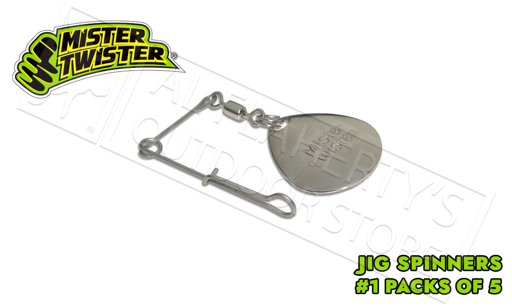 Mister Twister Jig Spinners, Size #1 Pack of 5 #JS15