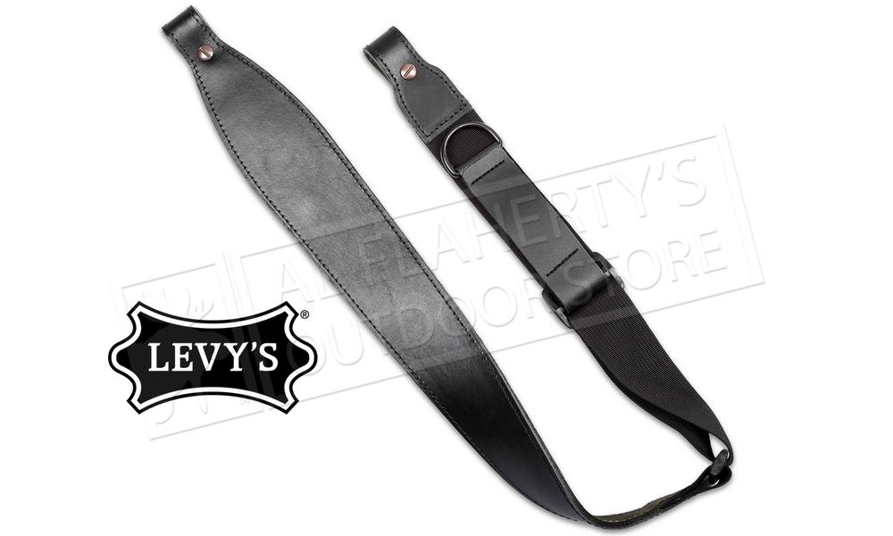 Levy's Black Veg-Tan Leather Rifle Sling – #SN20RH-BLK
