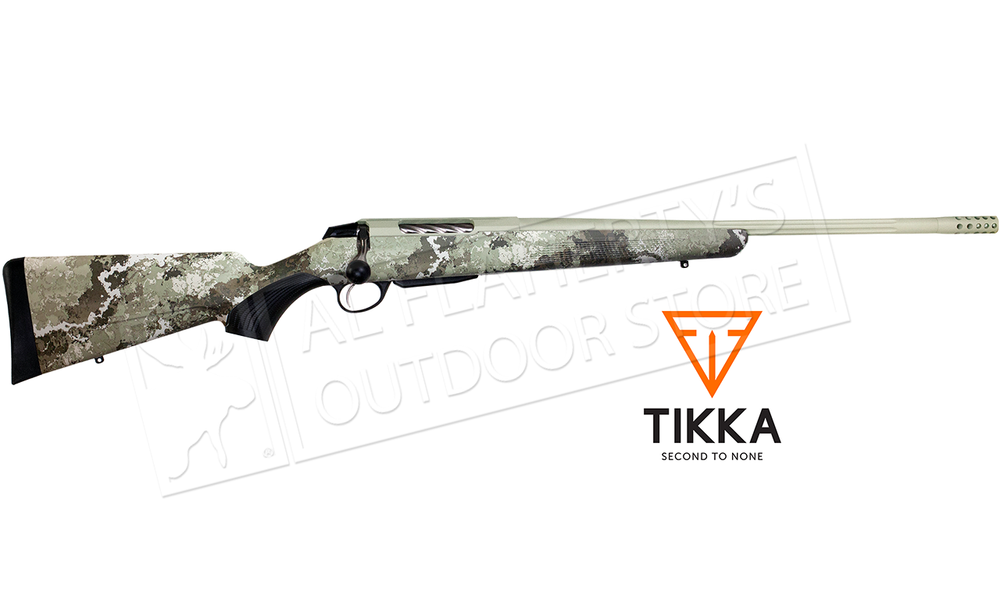 Tikka T3x Lite Veil Alpine Camo Cerakote and Fluted Barrel with Brake - Various Calibers
