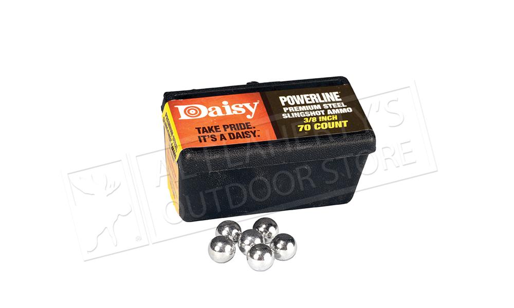 Daisy PowerLine 3/8 Inch Steel Slingshot Ammunition, Box of 70 #988183-446