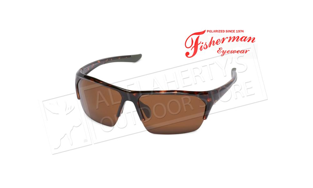 Fisherman Eyewear Ranger - Shiny Tort Frame with Green Rubber Tips/Brown #50730202
