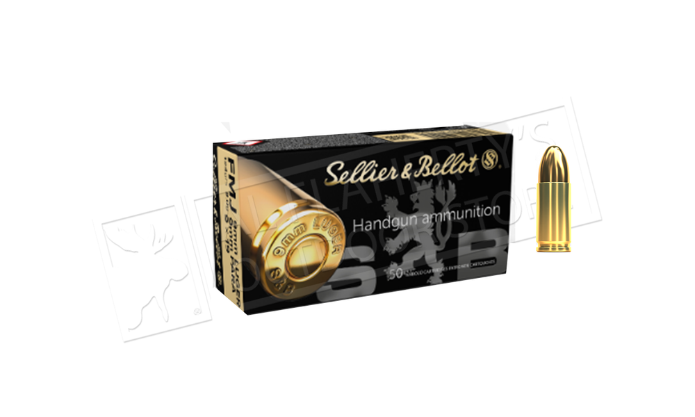 Sellier & Bellot 9mm Ammunition, 124 Grain, 15.99 for 50 or 299.99 for 1000 Rounds #310490