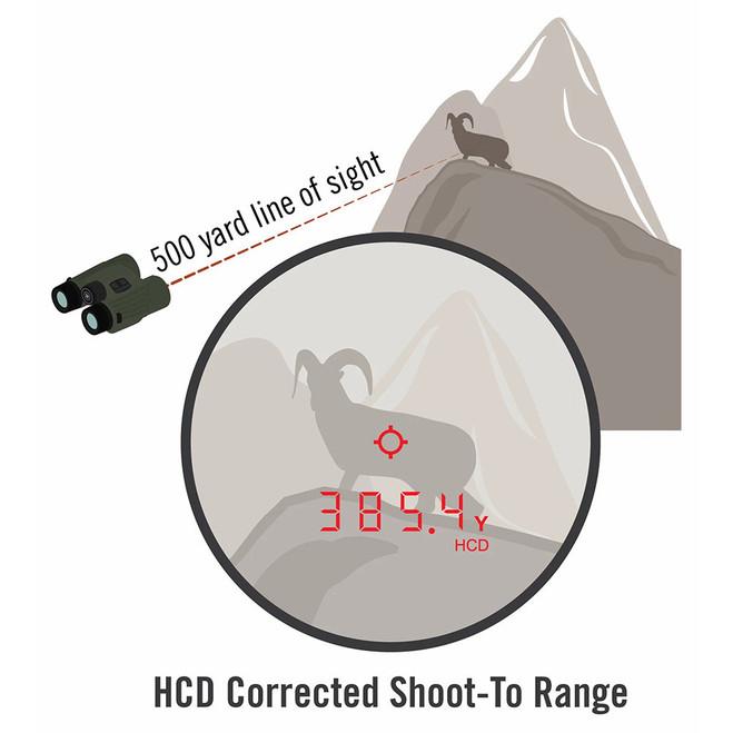 Vortex Fury HD 5000 AB 10x42 Laser Rangefinding Binocular with built-in Applied Ballistics #LRF302