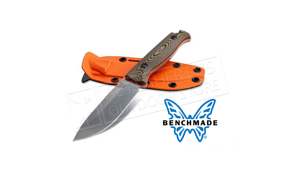 Benchmade 15002 Saddle Mountain Skinner Fixed Knife with Richlite G10 Handle and Boltaron Sheath #15002-1