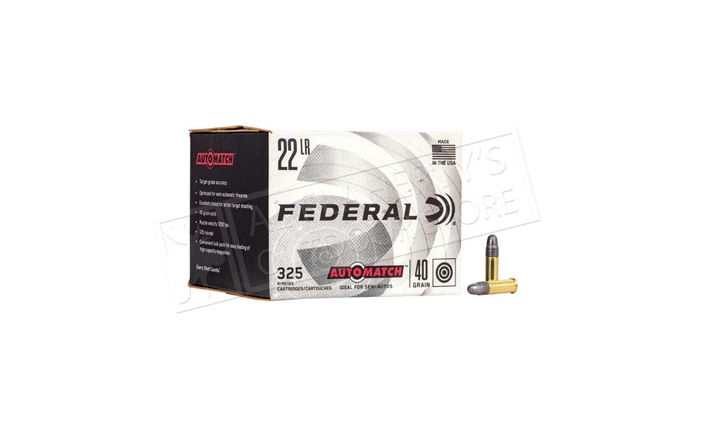 Federal Ammunition Auto Match Bulk Pack, .22LR, 1200fps, 325 Rounds  #AM22