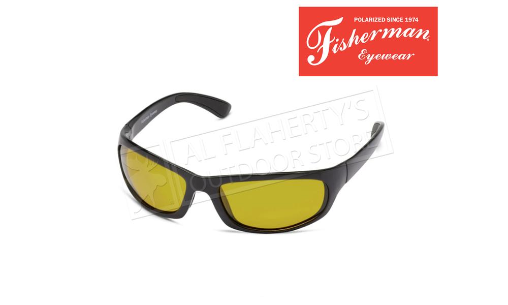 Fisherman Eyewear Permit Polarized Sunglasses, with Black Frame & Yellow Lens #50490102
