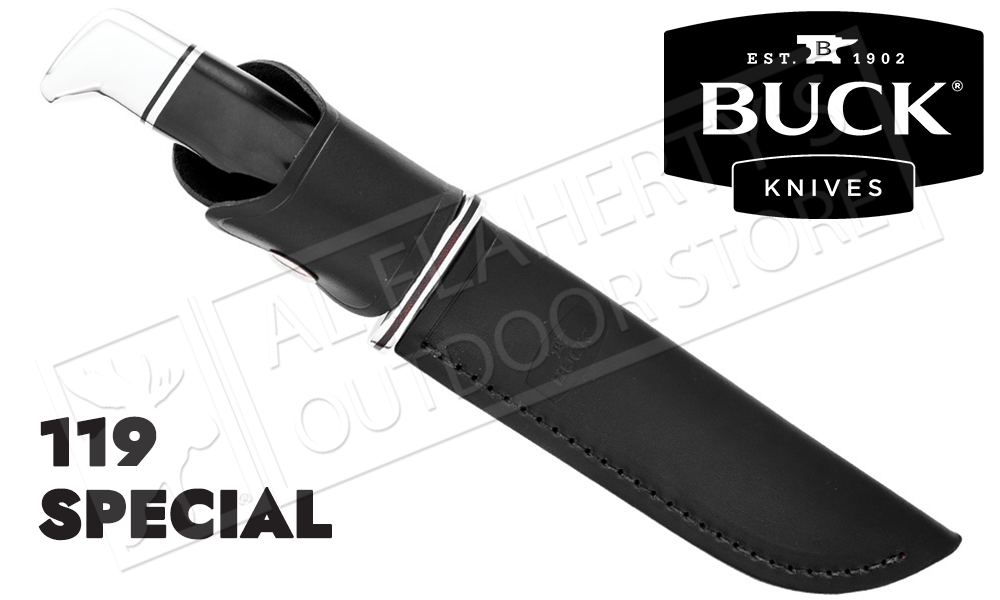 Buck Knives 119 Special Fixed Blade with Black Handle #0119BKS-B