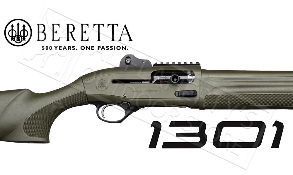 "BERETTA 1301 TACTICAL OD GREEN SEMI-AUTOMATIC SHOTGUN, 12 GAUGE 18.5"" BARREL"