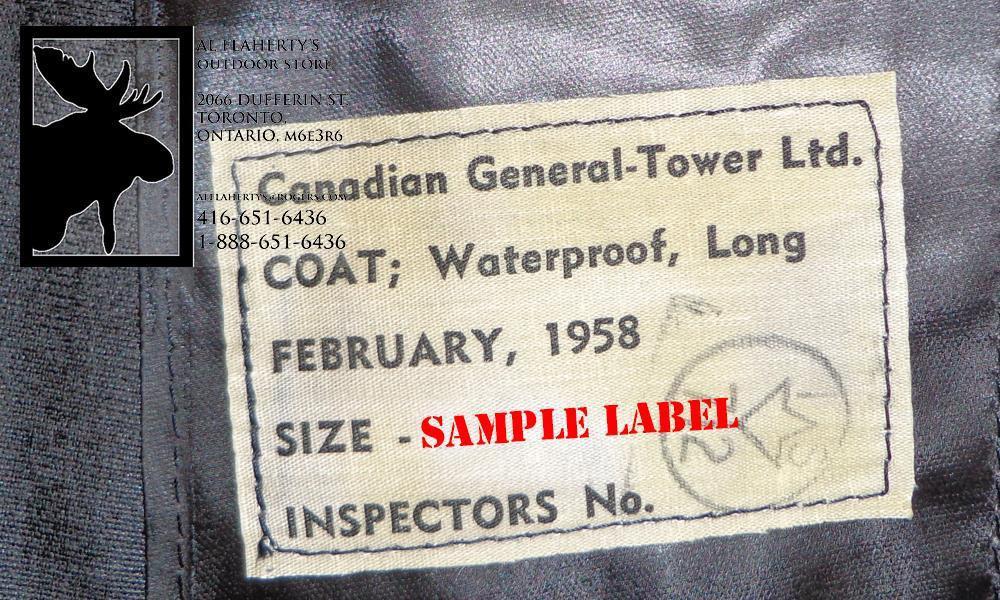 1950S CANADIAN SURPLUSBLACK VINYL FULL LENGTH RAINCOATS