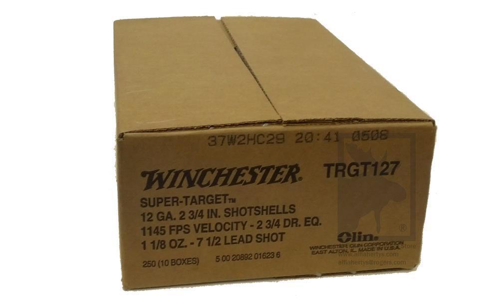 """12 GAUGE - WINCHESTER SUPER-TARGET, #7-1/2, 2-3/4"""", 1-1/8 OZ. 3 DRAM, CASE OF 250"""