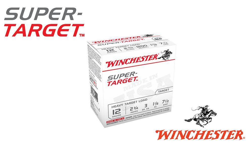 """12 GAUGE - WINCHESTER SUPER-TARGET, #8, 2-3/4"""", CASE OF 250"""