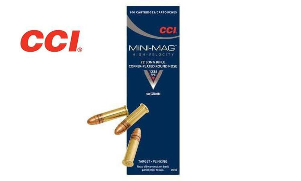 CCI 22LR MINI-MAG, HIGH-VELOCITY, 40 GRAIN ROUND NOSE, BOX OF 100