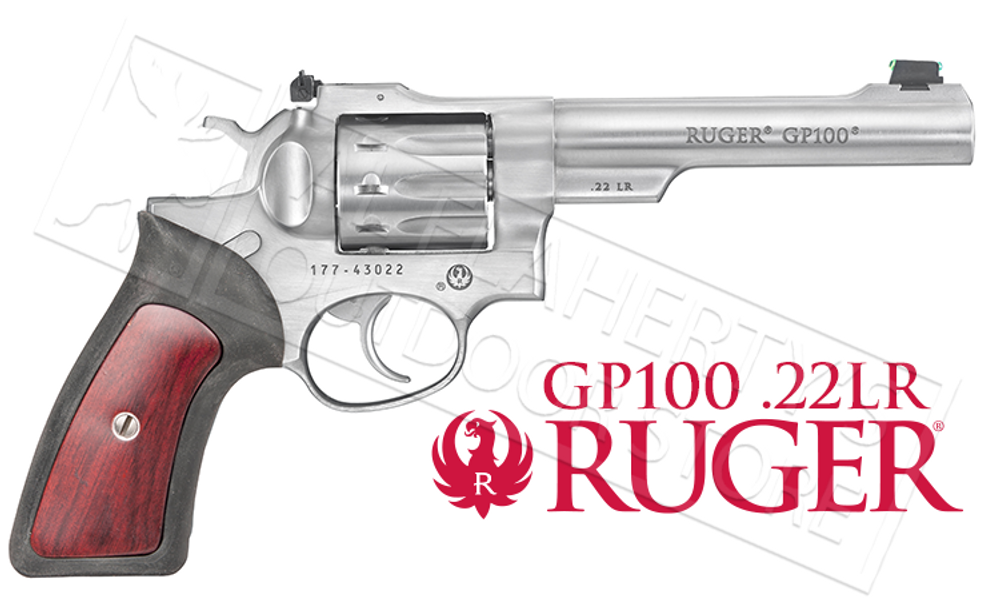 RUGER GP100 DOUBLE ACTION 22LR REVOLVER