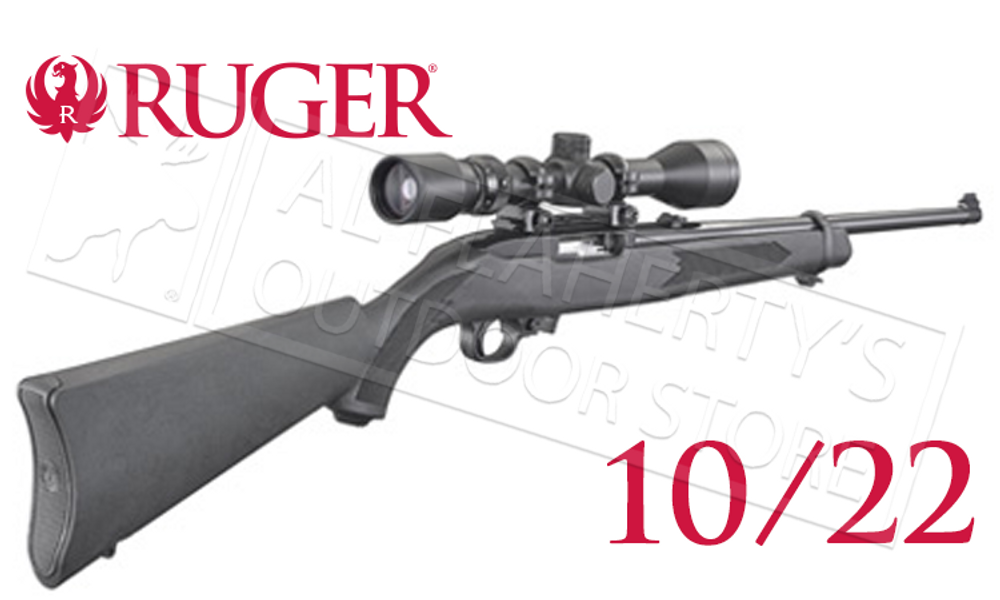 Ruger 10/22 Carbine Combo with 3-9x40 Scope and Hard Case #31143