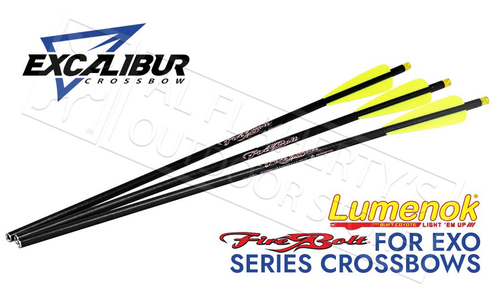 "Excalibur Firebolt Illuminated 20"" Carbon Arrow 3-Pack #22CAVIL-3"