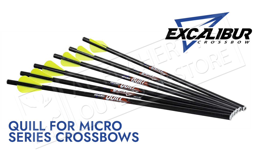 """Excalibur Quill Arrows for Micro Series Crossbows, 16.5"""" Pack of 6 #22QV166"""