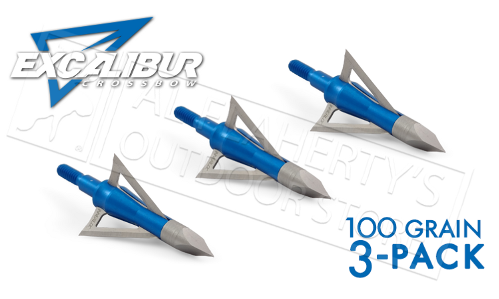 EXCALIBUR CROSSBOW BOLTCUTTER BROADHEADS 100 GRAIN 3-PACK