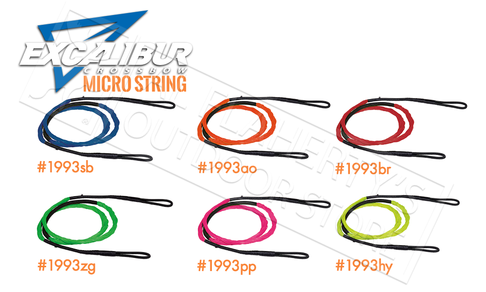 EXCALIBUR MICRO CROSSBOW STRINGS, VARIOUS COLOURS