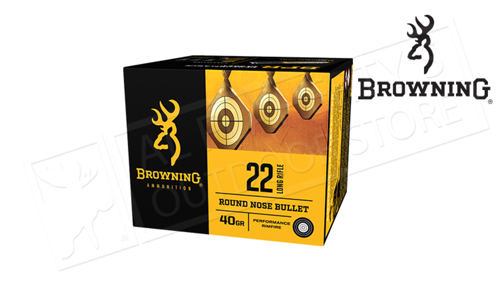 Browning Ammo 22LR BPR Target 40 Grain, High Velocity Box of 400 #B194122400