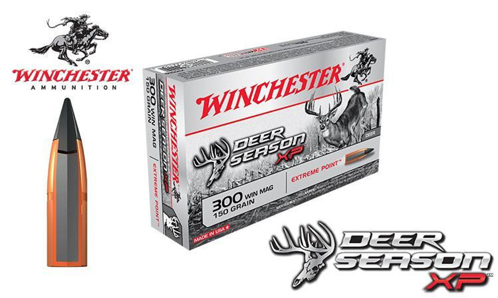 WINCHESTER 300 WINCHESTER MAGNUM DEER SEASON XP, POLYMER TIPPED 150 GRAIN BOX OF 20