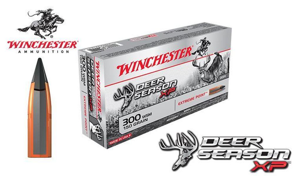 WINCHESTER 300 WSM DEER SEASON XP, POLYMER TIPPED 150 GRAIN BOX OF 20