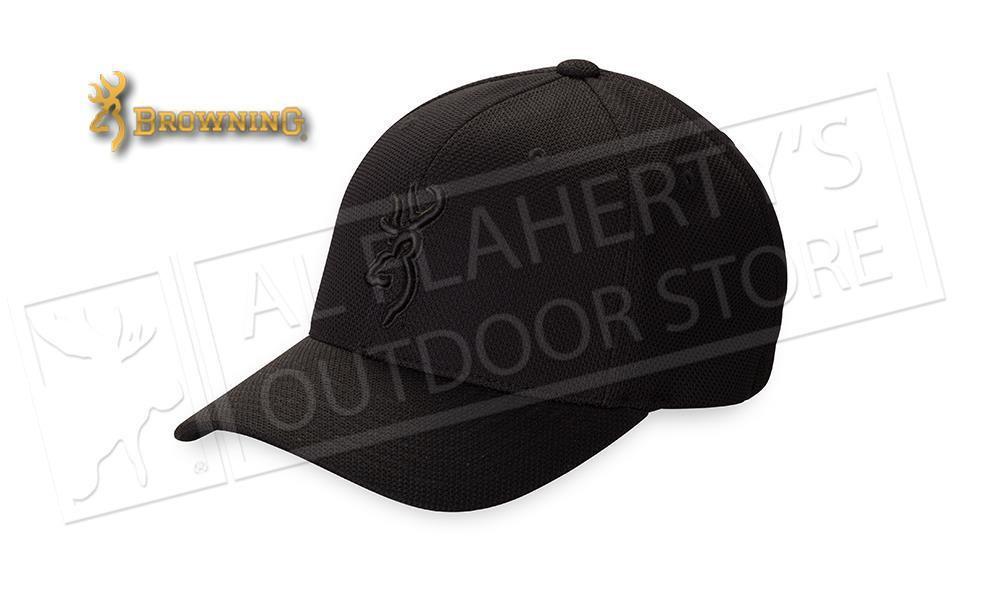 Browning Hat Coronado Pique Cap with Buckmark, Black #308007994