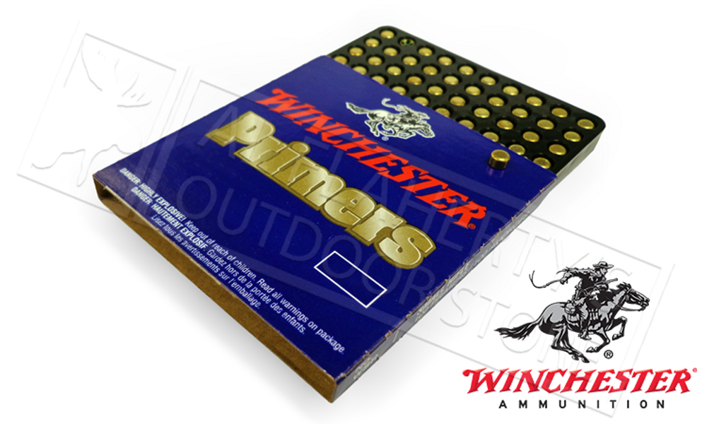 WINCHESTER SMALL RIFLE PRIMERS, TRAY OF 100