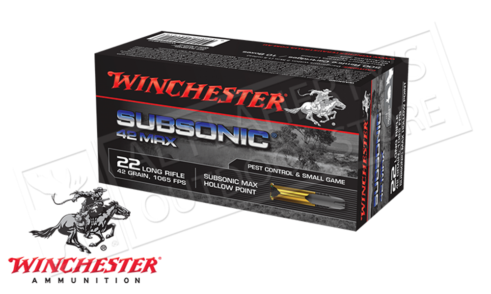 WINCHESTER 22LR SUBSONIC MAX, 42 GRAIN BOX OF 50
