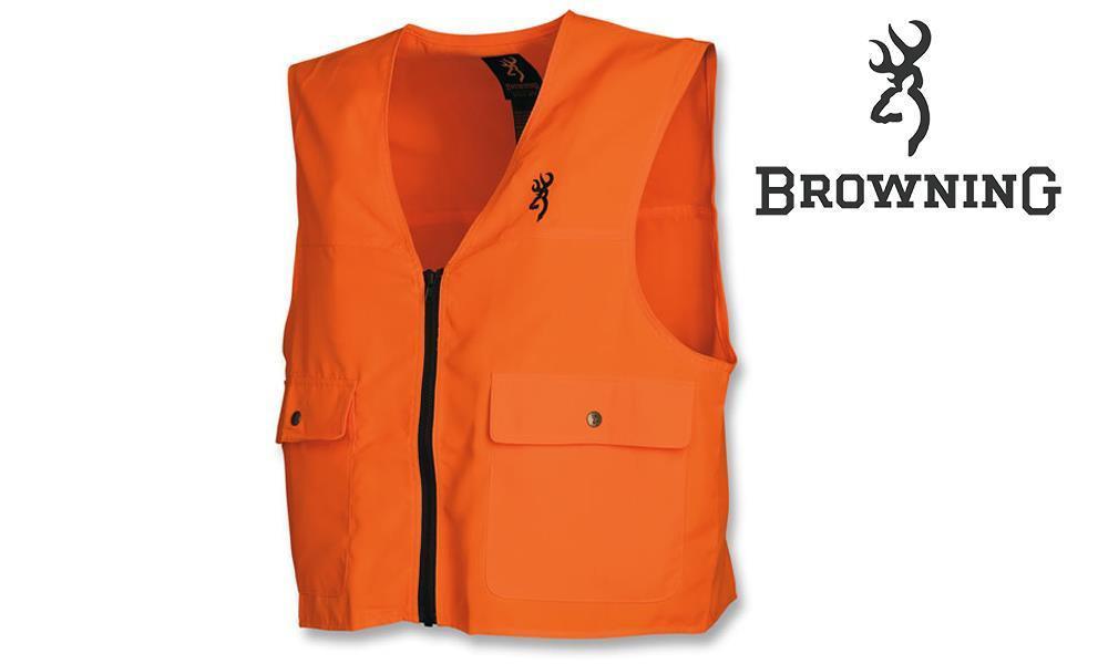 Browning Blaze Orange Hunting Safety Vest in Various Sizes #30510001