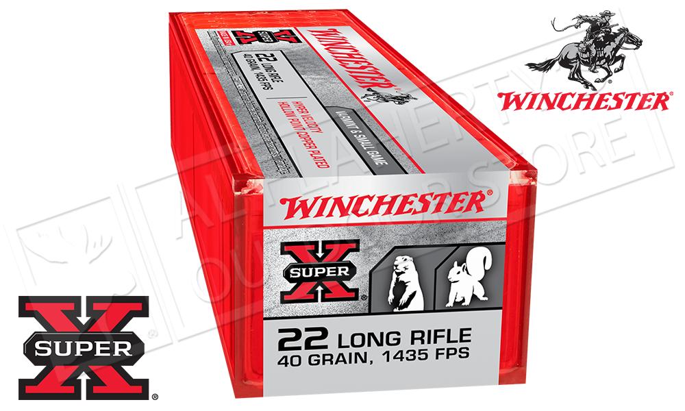 Winchester 22LR Super X, 40 GR CPHP Hyper Velocity 100 per Box #XHV22LR