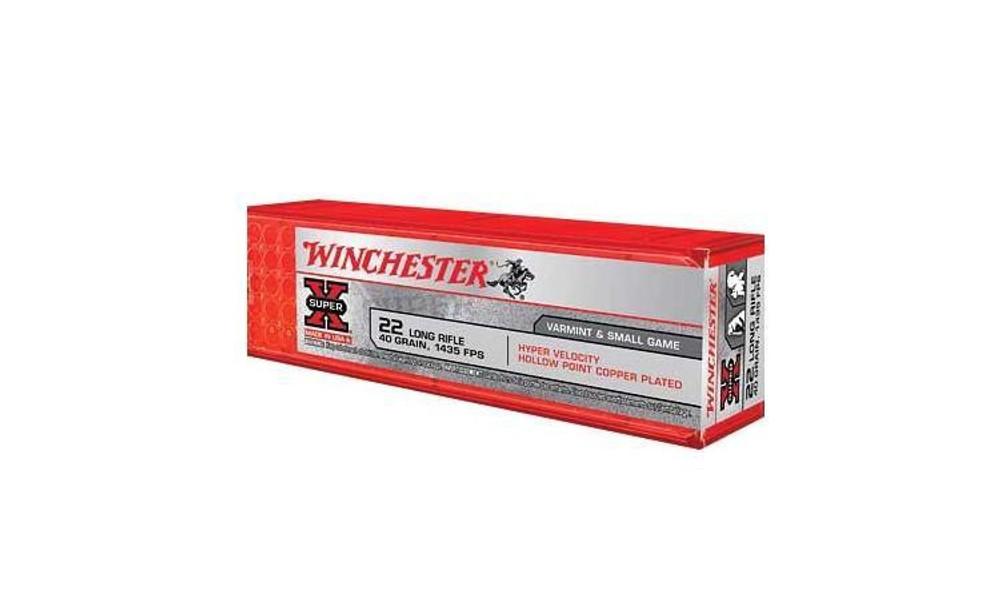 WINCHESTER SUPER-X 22LR, 40 GR CPHP HYPER VELOCITY 100 PER BOX