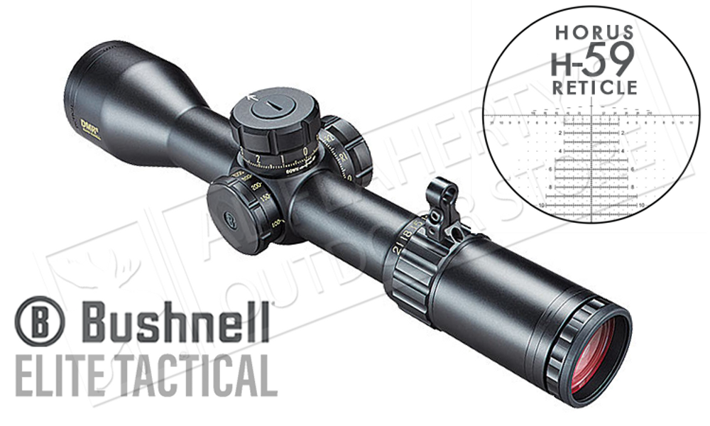 Bushnell Elite Tactical HDMR II FFP Scope 3.5-21x50mm Horus H-59 Reticle #ET36215H