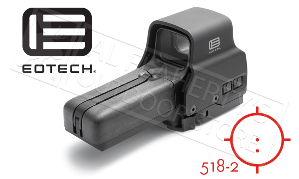 EOTech 518 Holographic Sight with QD Mount and Side Controls #518-2