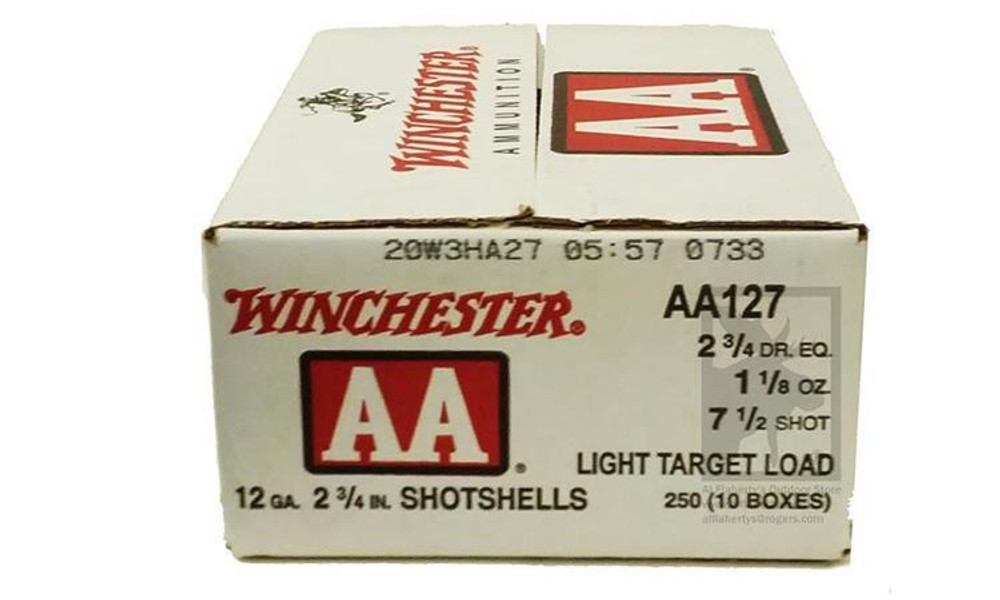 "(STORE PICKUP ONLY) 12 GAUGE - WINCHESTER AA, #7.5"", 2 3/4"", CASE OF 250"