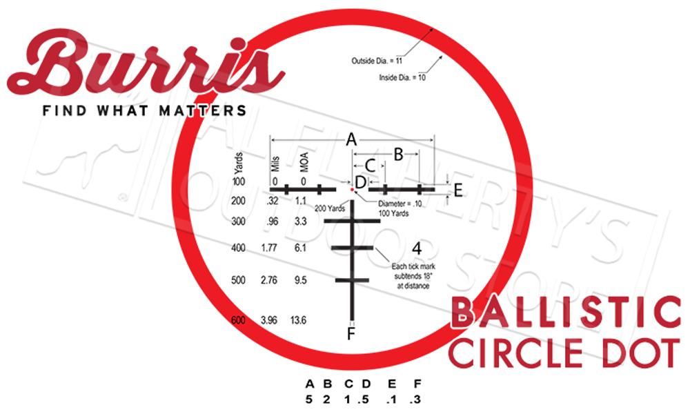 Burris XTR II Scope 1-8x24mm with Illuminated Ballistic Circle Dot Reticle #201018